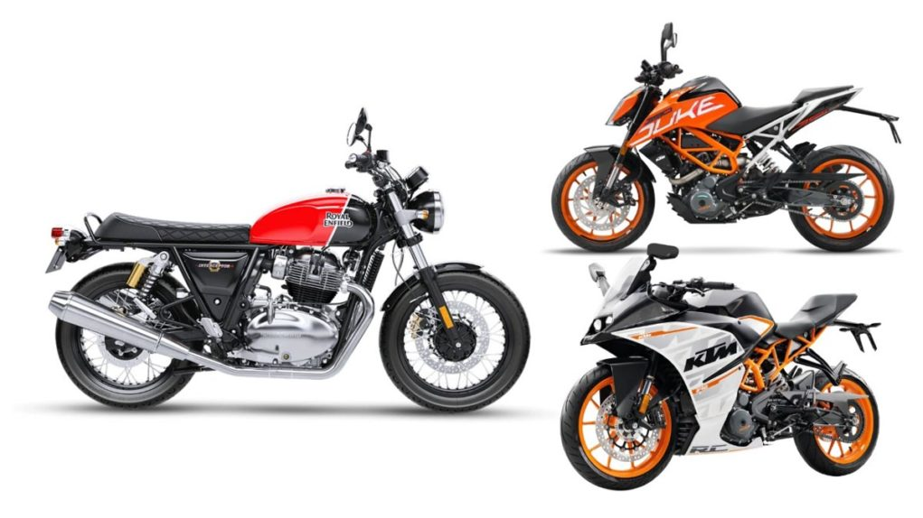 ktm duke 390 sales vs re 650 sales