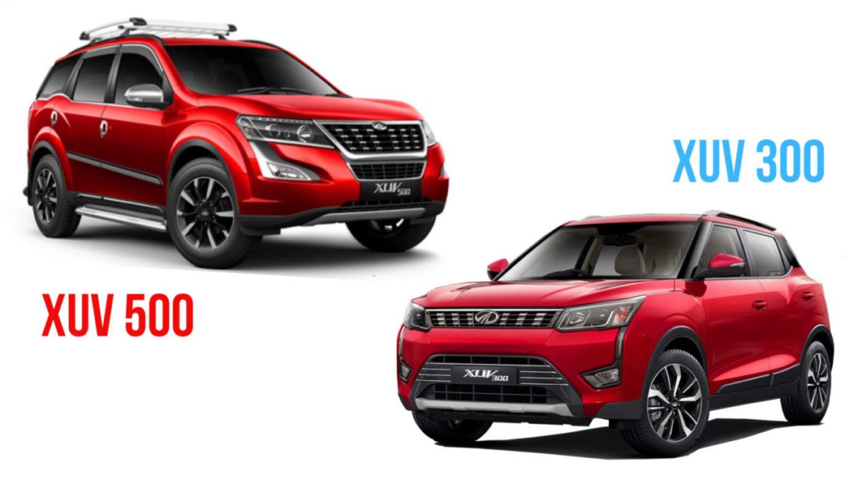 Mahindra Xuv500 Vs Mahindra Xuv300 Feature Design Comparison