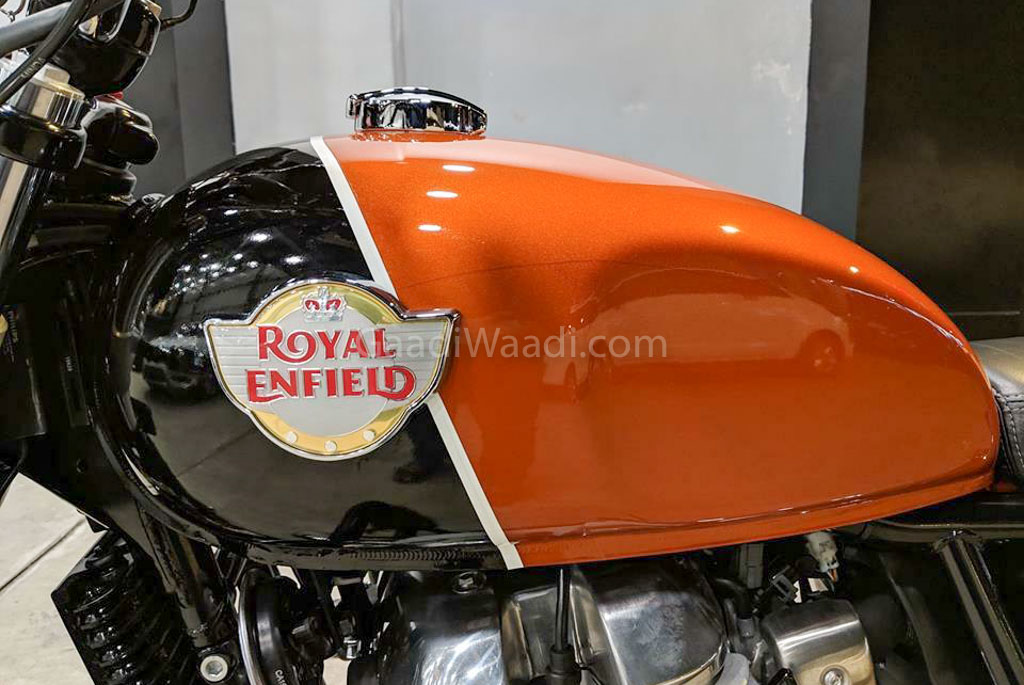 re interceptor 650 orange custom -2