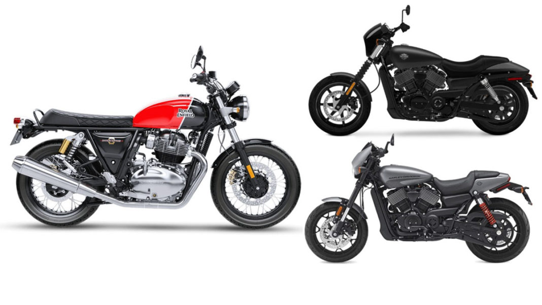 royal enfield 650 twins sales vs harley davidson 750 sales