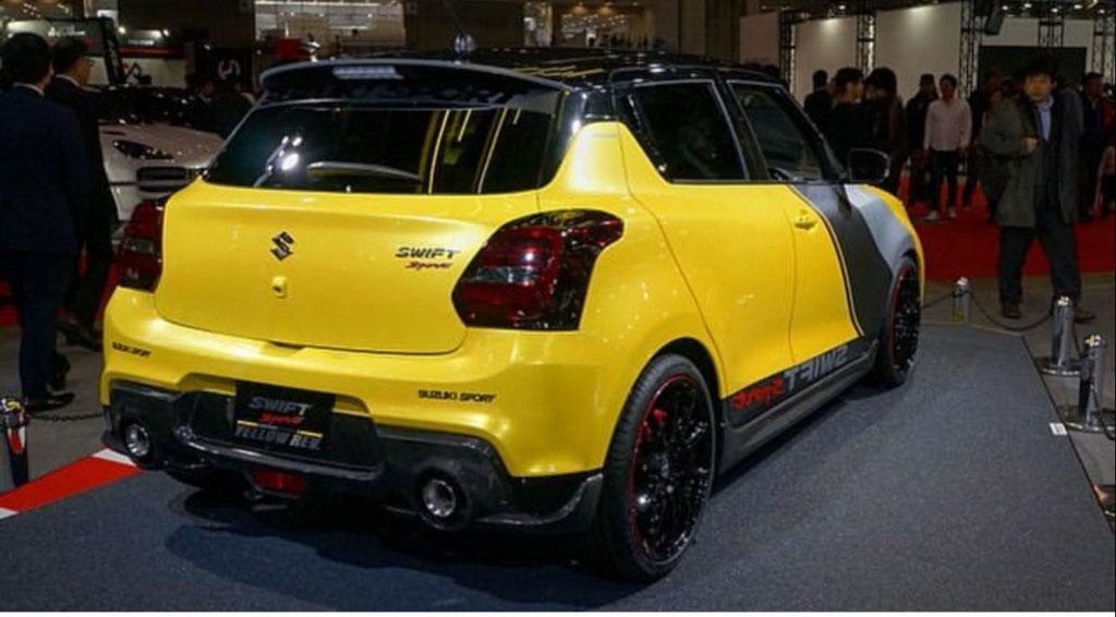 Suzuki Swift Sport Yellow Rev Concept Sizzles The Crowd At