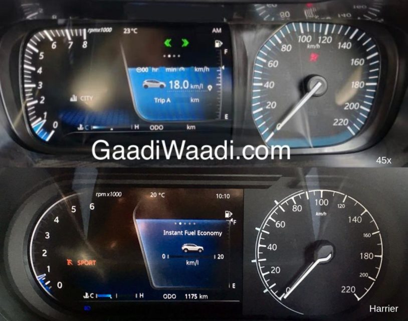 tata 45x harrier speedo-1