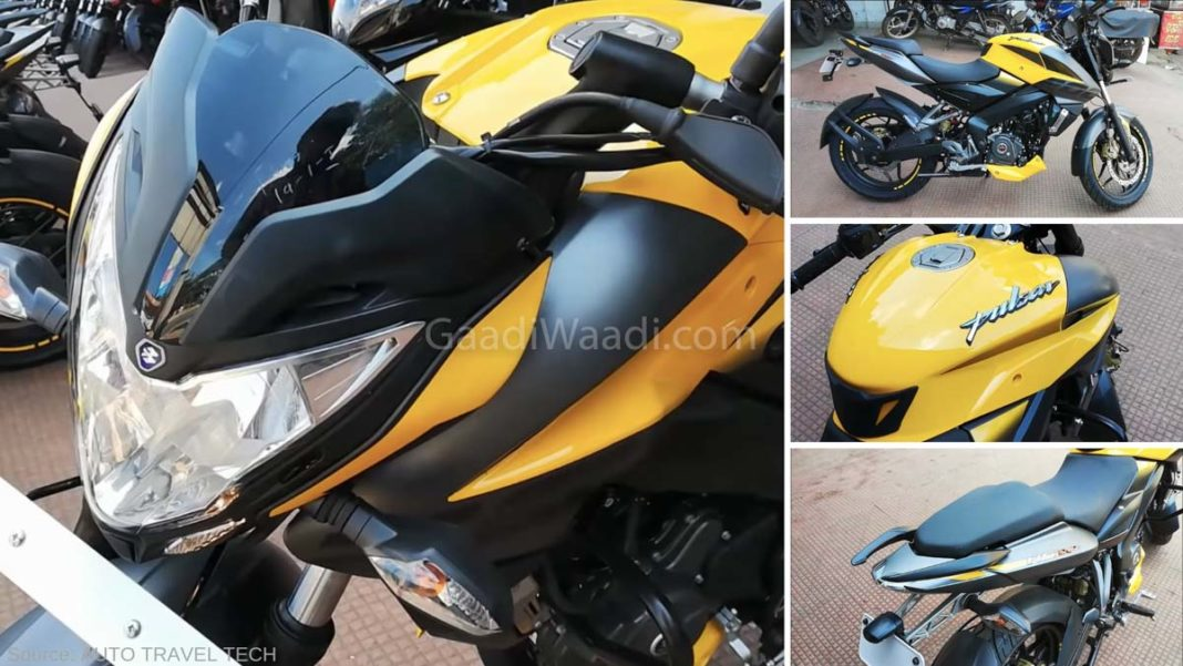 2019 Bajaj Pulsar NS 200 ABS Yellow Colour-2