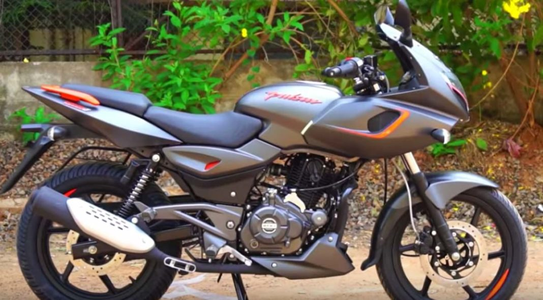 Bajaj Pulsar 180F Matte Gray Orange