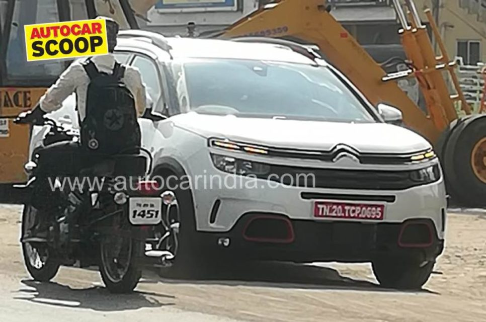 Citreon-C5-Aircross-spotted-in-India