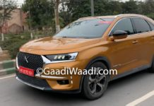 DS7 Crossback Caught Testing In India 1