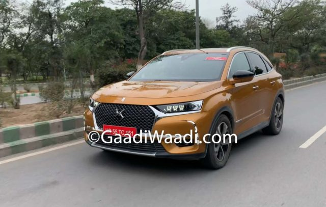 DS7 Crossback Caught Testing In India
