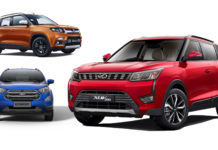 Mahindra XUV300 W4 VS Vitara Brezza VDi VS Ford Ecosport Ambiente - Comparison