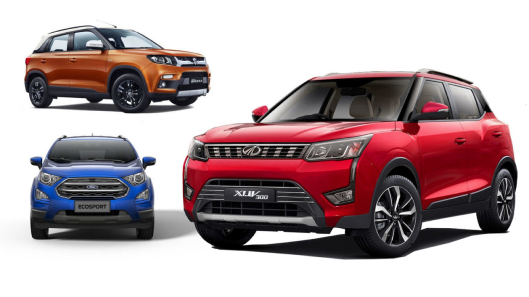 Mahindra XUV300 W4 VS Vitara Brezza VDi VS Ford Ecosport Ambiente - Comparison