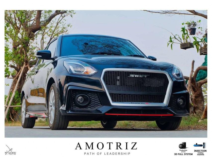 Modified-Maruti-Swift-with-Audi-grille-2