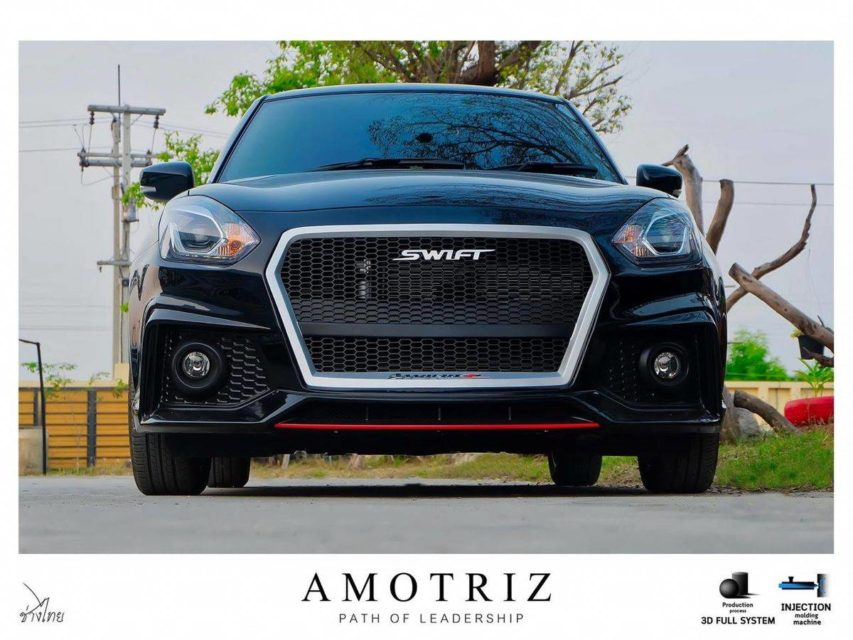 Modified-Maruti-Swift-with-Audi-grille