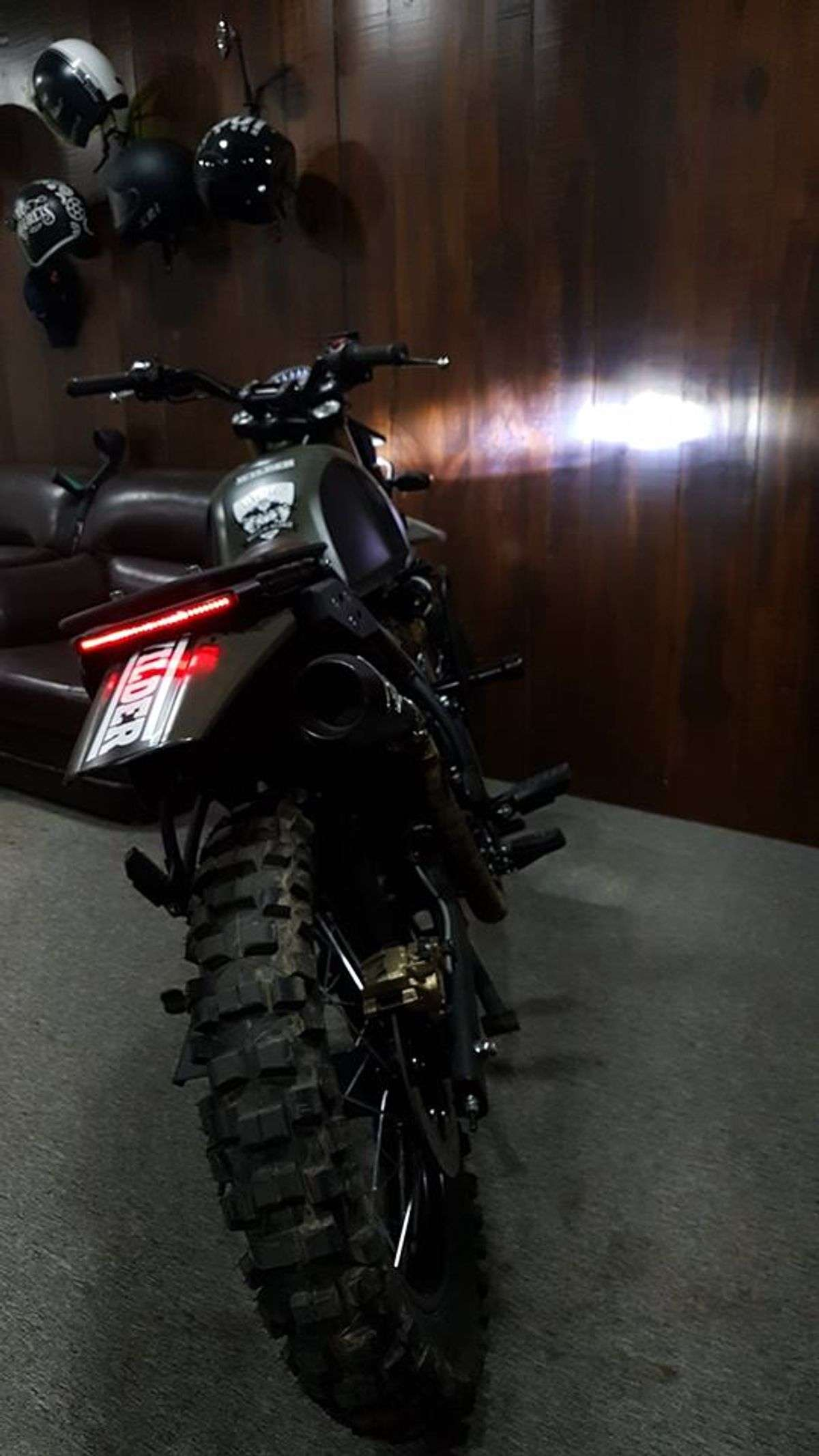 This Customised Re Himalayan Looks Mean In This Shade Of