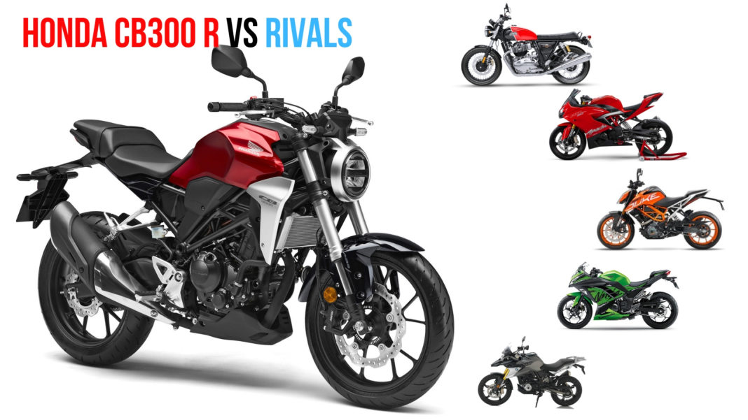 honda cb300r vs rivals price