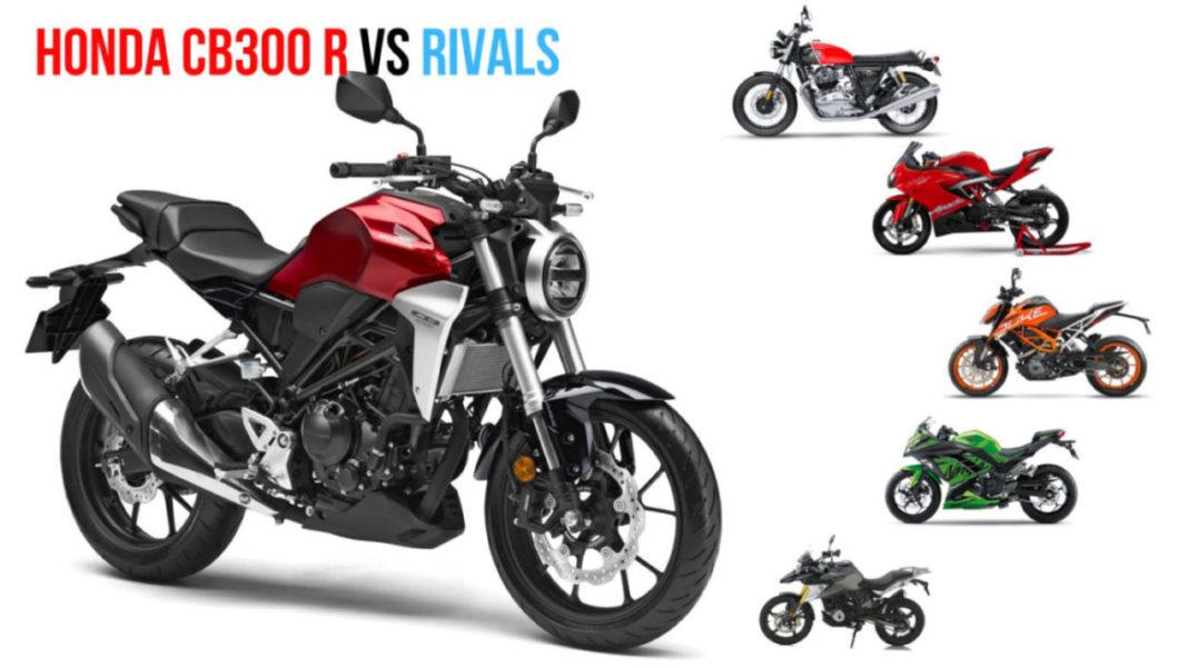 honda cb300r vs rivals price