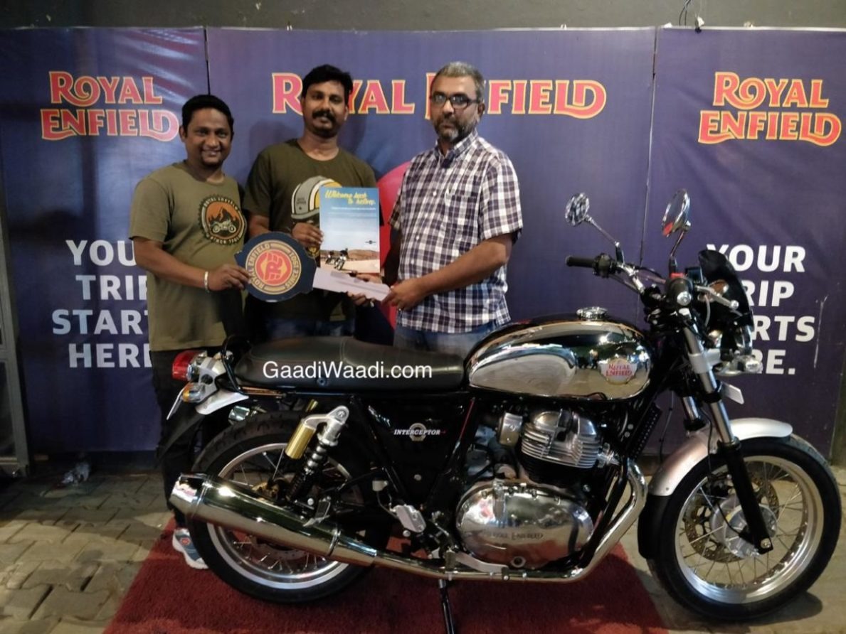 royal enfield interceptor  chrome deliveries   india
