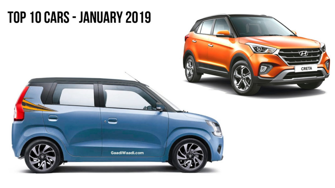 top 10 selling cars in january 2019 - New wagon r beats santro