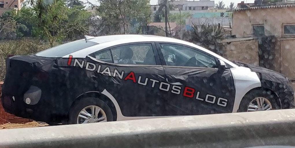 2019 hyundai elantra facelift spied india