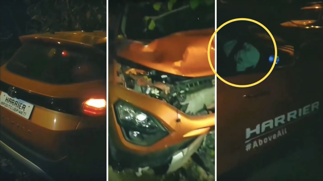 Another Tata Harrier Test Drive Vehicle Crashed