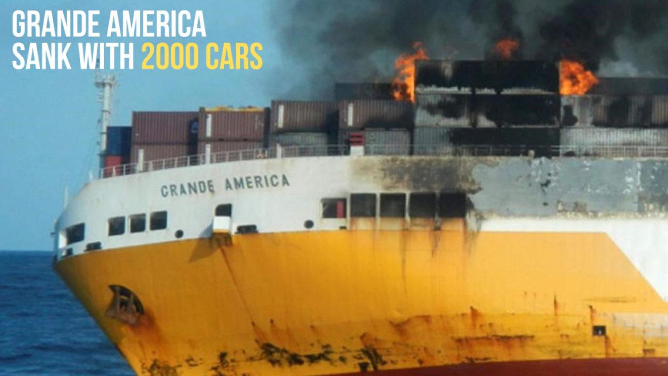 Italian Cargo Ship Sank With 2 000 Cars Including Porsche