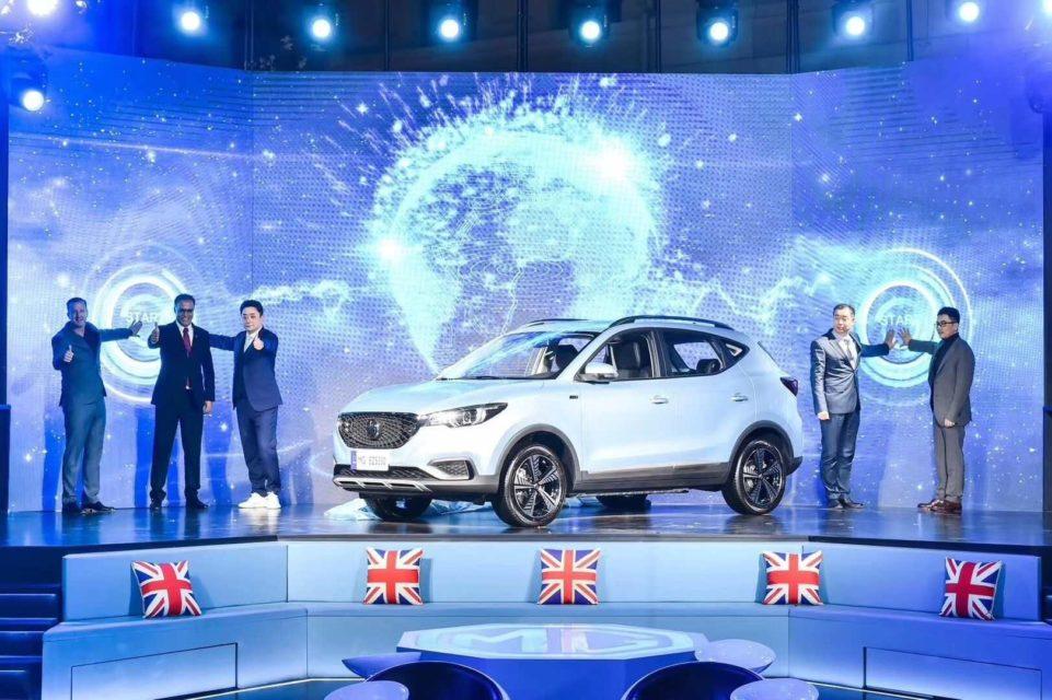 MG eZS Pure Electric Vehicle makes global debut