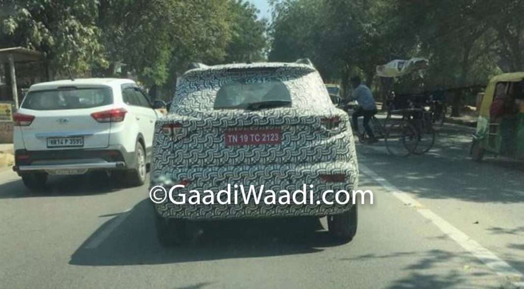 Mahindra XUV300 AMT Spied Testing
