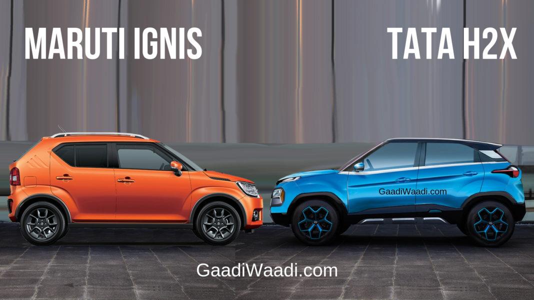 Maruti Suzuki Ignis Vs Tata H2X Concept