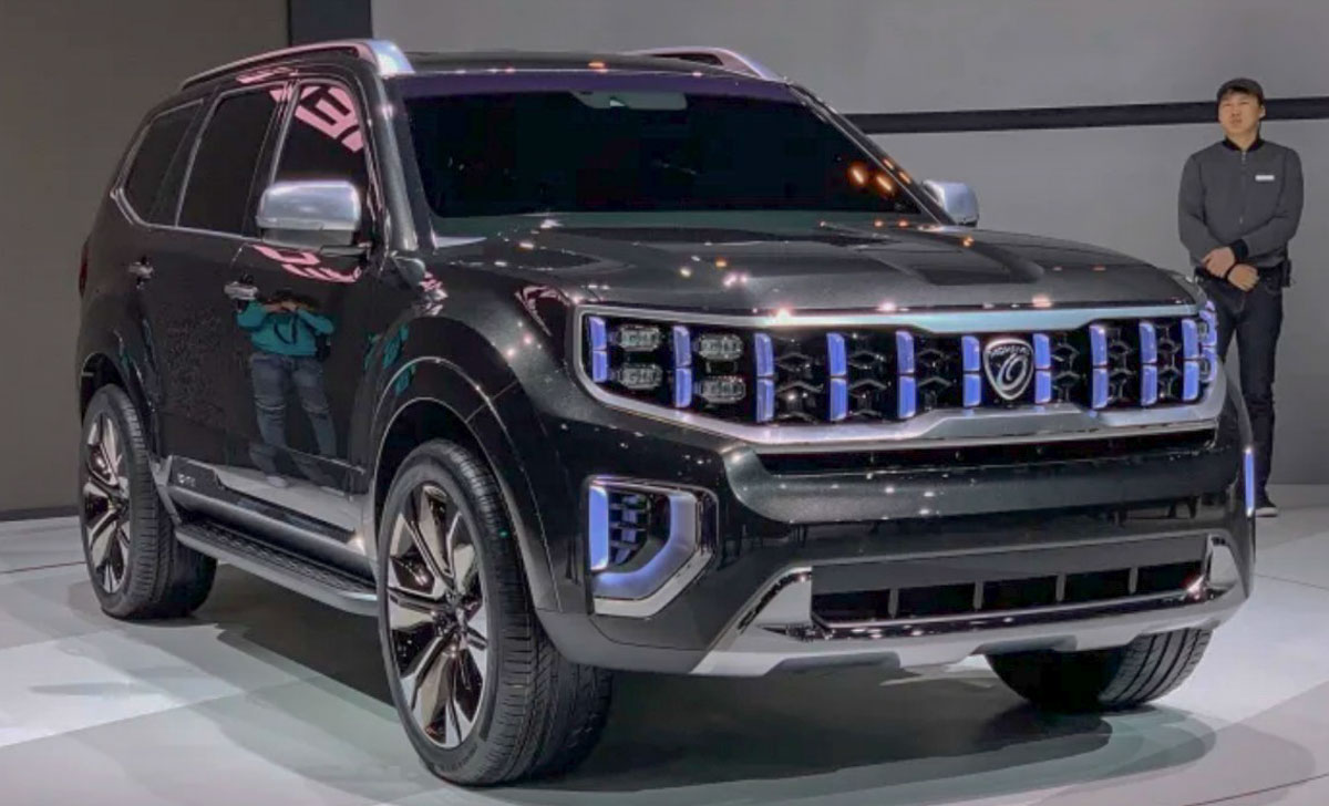 kia mohave masterpiece concept previews rugged off road suv. Black Bedroom Furniture Sets. Home Design Ideas