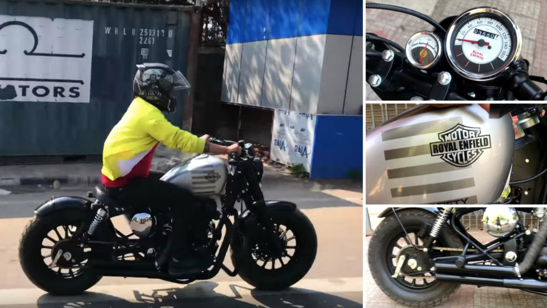 Royal Enfield Cruiser Converted Into A Classic Bobber Looks Muscular