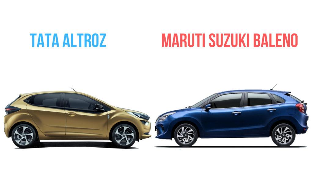 Tata Altroz Vs Maruti Suzuki Baleno - Dimensions Comparison 2