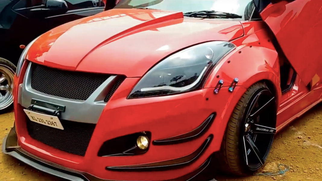 This Modified Maruti Suzuki Swift With Scissor Doors Looks Like A Hardcore Brawler