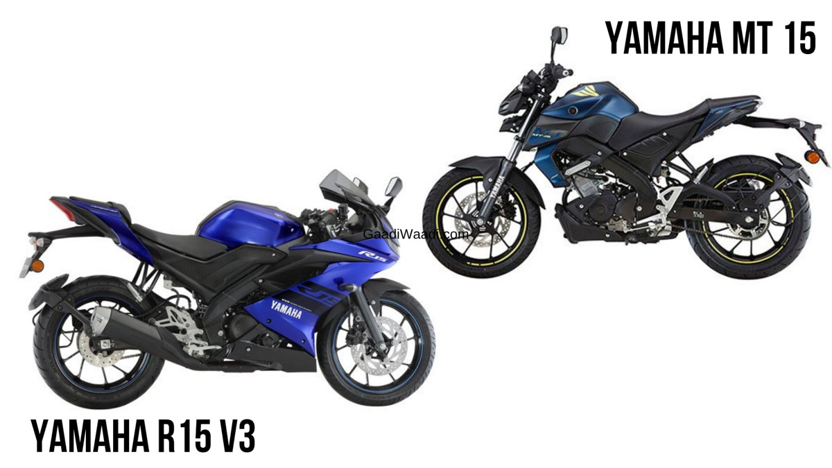 Yamaha YZF-R15 V3 VS Yamaha MT 15 - Price & Key Difference