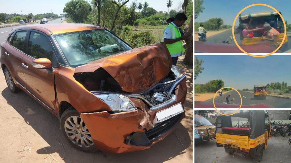 baleno auto accident india