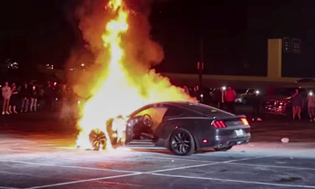 ford mustang fire accident