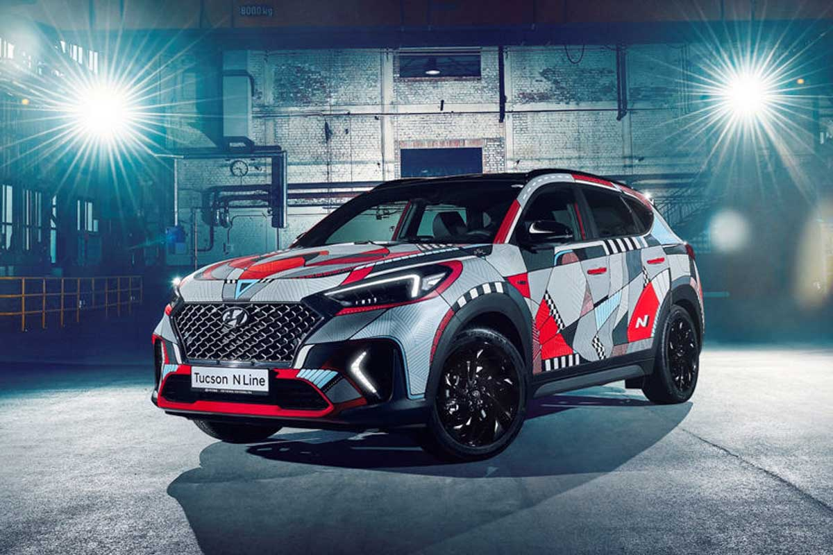 Image Auto Sales >> Hyundai Creates A Beautiful Art Car To Celebrate Tucson N Line