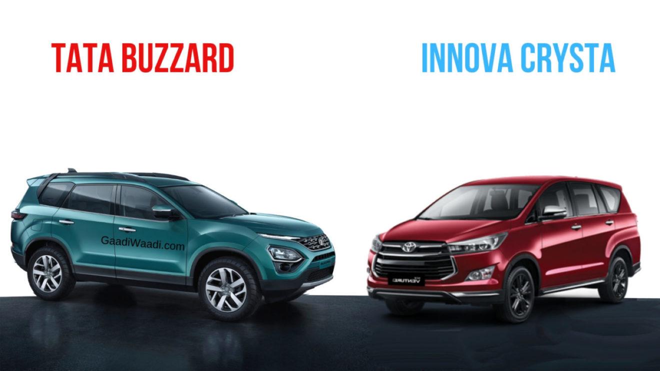 Tata Buzzard Vs Toyota Innova Crysta Spec Comparison