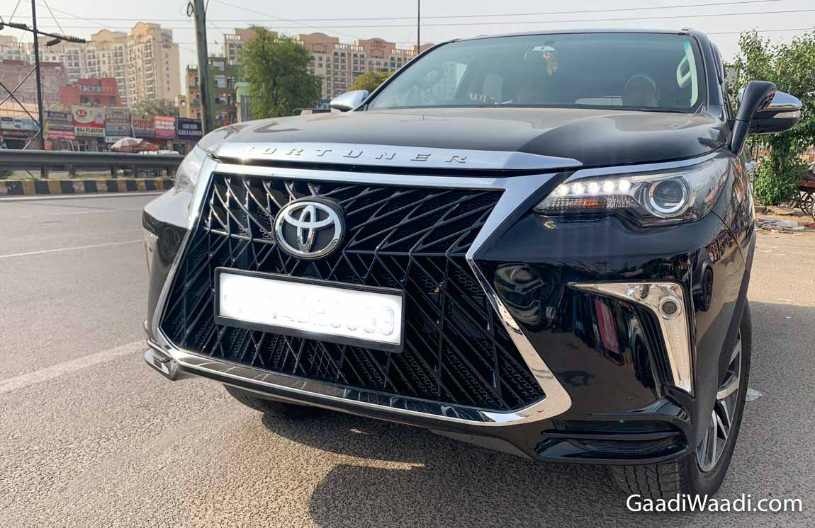 Toyota Fortuner Body Kit Inspired From Lexus Priced At Rs