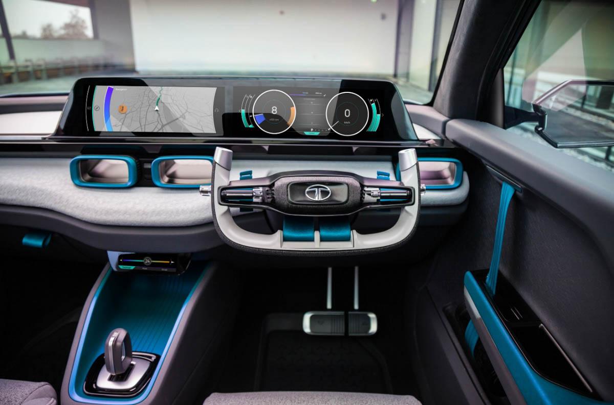 Tata H2X Concept Boasts A Futuristic Interior With Fine ...