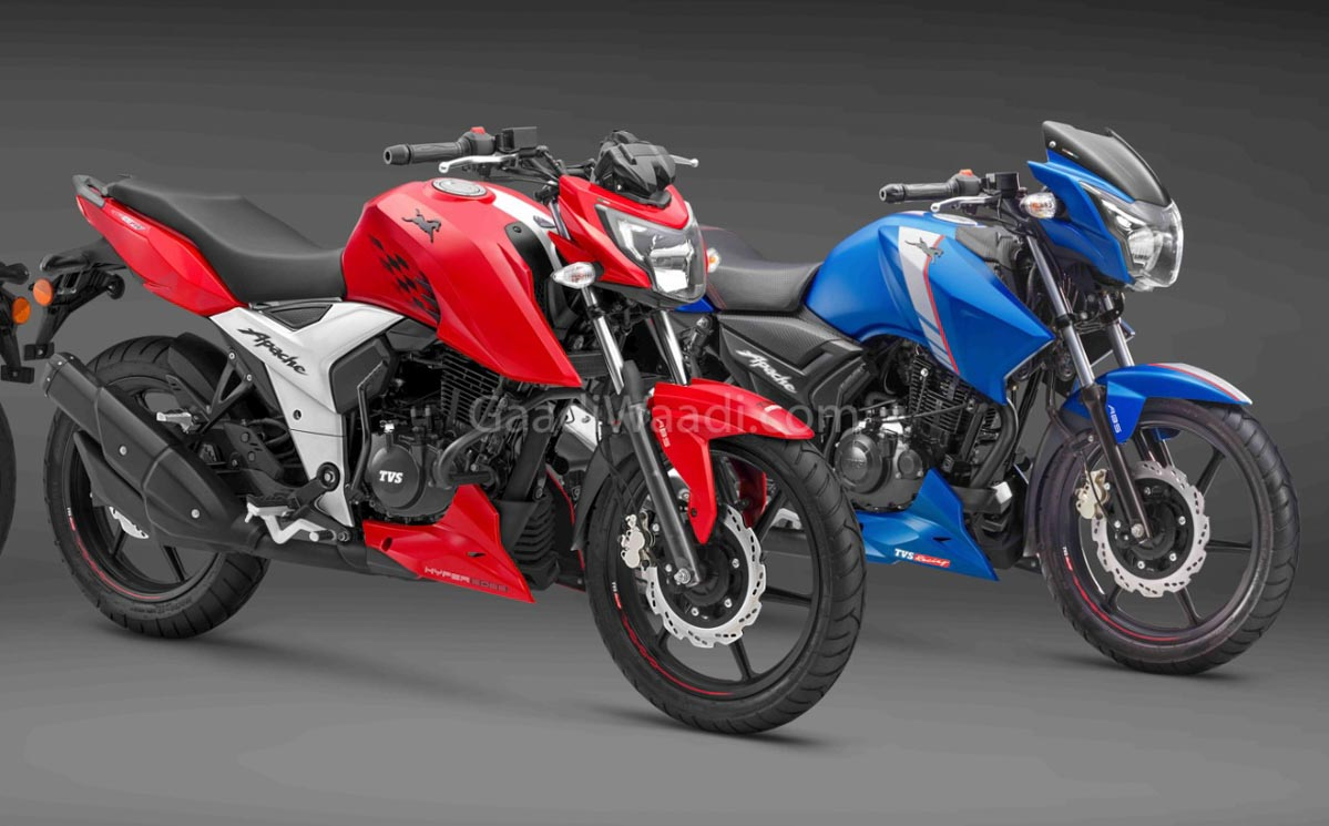 TVS Launches Apache RTR 160 4V In Columbia