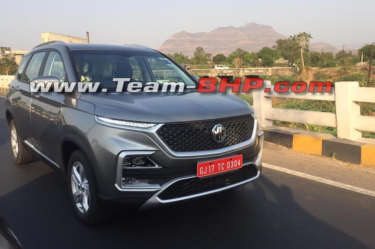 Mg Hector Hybrid Model Spotted For The First Time
