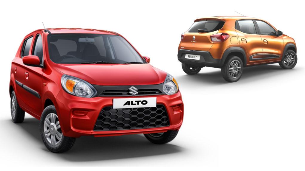 2019 Maruti Alto 800 vs Renault Kwid - Specs Comparison