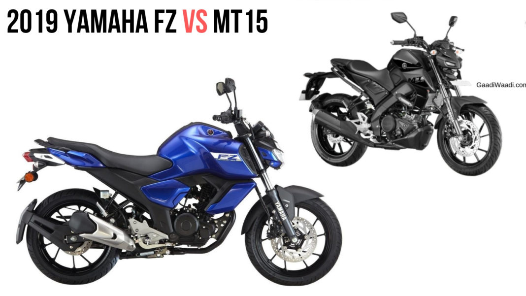 2019 YAMAHA FZ VS MT15