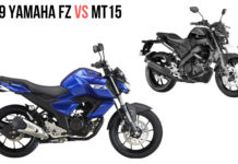 2019 YAMAHA FZ VS MT15