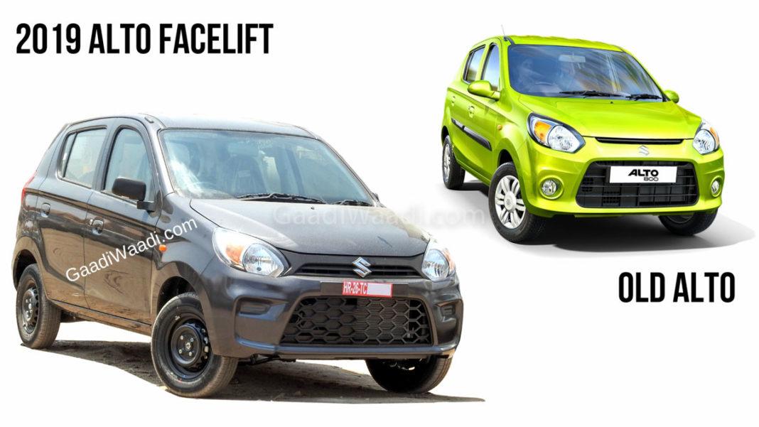 2019 alto facelift vs old alto-1