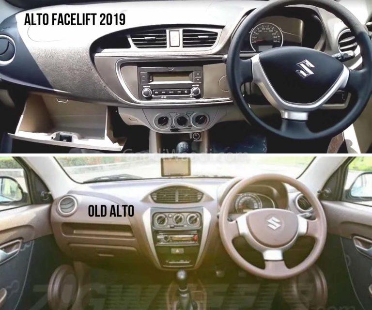 2019 alto facelift vs old alto-1-2