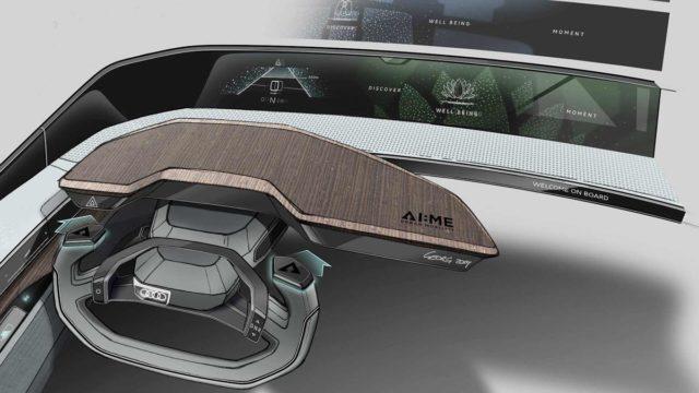 Audi AI-me Concept Teased Interior