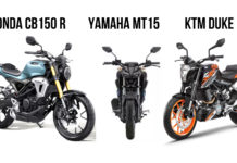 Honda CB150R Streetster Vs Yamaha MT-15 Vs KTM Duke 125 – Comparison