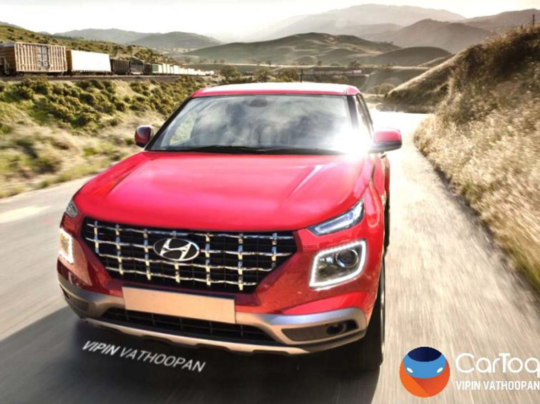 Hyundai Venue SUV Rendered