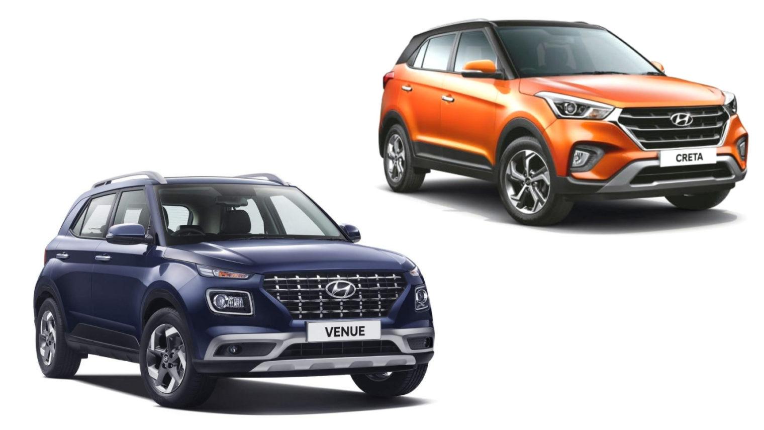 Hyundai Venue Vs Hyundai Creta - Which One To Choose?