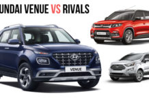 Hyundai Venue Vs Maruti Vitara Brezza Vs Ford EcoSport Specification Comparison