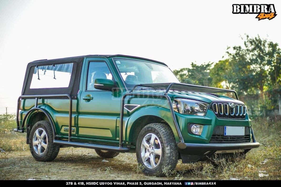 This Modified Mahindra Scorpio Into A Soft Top Pickup Truck Looks Fascinating